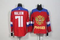 71 Maklin Jerseys del balompié 2016 de los nuevos de las llegadas de los hombres de Rusia WCH del hockey del hielo del hockey del hielo de la Copa del mundo de los jerseysFree Minging1225