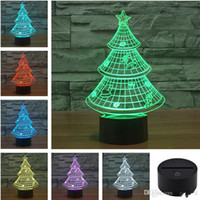 best fruit trees - Christmas Tree Touch Control D Night Light colors change visual illusion USB LED lamp Best Price Epacket free Shipment
