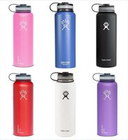 Wholesale Hydro Flask Vacuum water bottle oz Insulated Stainless Steel Water Bottle Wide Mouth big capacity travel water bottles