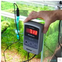 Plumbing aquaculture fish tank - Aquarium fish tank water quality testing to monitor pH detection ph tester value of the long term monitoring device aquaculture