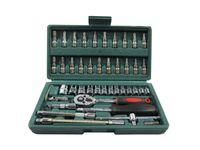 Wholesale 46pc Spanner Socket Set Car Repair Tool Ratchet Wrench Set Cr v hand tools Combination Bit Set Tool Kit