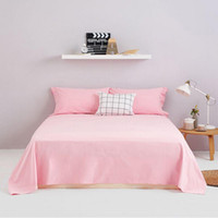 Wholesale Bedding article single piece Sheet mattress cover Bedspread Coarse Cloth hand woven cotton Solid color and stripe simple style