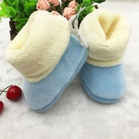 Wholesale New Winter Newborn Baby Flock Warm Pre walker Shoes Infant Boy Girl Toddler Soft Soled First Walker