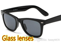 Wholesale brand new summer men Beach sunglasses GLASS LENSES cycling glasses women Bicycle Glass driving Sunglasses color cheap price