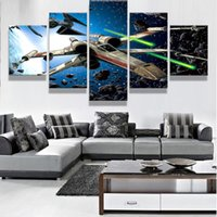 Wholesale 5 Set Framed Printed Star Wars X Wing Starfighter Modern Home Wall Decor Canvas Picture Art HD Print Painting On Canvas Artwork
