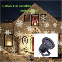 Wholesale Christmas snow outdoor IP65 LED Projection lamp AC110 V X1W RGBW Christmas light snow Projection Lawn lamp