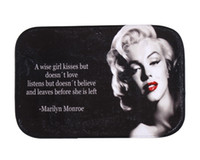 Wholesale Marilyn Monroe Coral Fleece Rug Mat Fancy Pattern Door Mat Non slip Floor Mat cm Factory Price