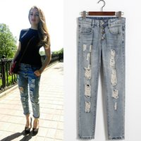 Cheap Fashionable Ripped Jeans | Free Shipping Fashionable Ripped ...