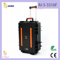 ammo cases plastic - AURA AI F Peli Style Waterproof Shockproof Case With Trolley Hard Plastic Case Equipment Ammo Case Manufacturer