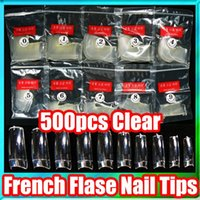 Wholesale pack Acrylic Clear False Nails Half Tips Nail Art French Manicure Tools Different Size