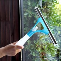 Wholesale 50 Pieces Portable Multi function integrated water jet windshield glass cleaner tool window wiper bathroom floor