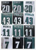 Wholesale Best quality jersey Men s11 Carson Wentz Sam Bradford Brian Dawkins Darren Sproles elite jerseys White Green Black football