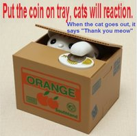 Wholesale Cute Cat Automated Steal Stealing Money Saving Box Bank Your Best Choice Perfect Gift For Your Friends