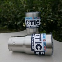 Wholesale New RTIC Stainless Steel oz and oz Cups Rambler Tumbler Cup with Lid Travel Drinkware