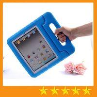 al por mayor mini ipad niños cubiertas-Mango de la cubierta del caso del defensor de la prueba resistente al choque de la espuma de EVA de los cabritos para el iPad mini 1234 ipad 2/3/4 Air 5 6 Pro