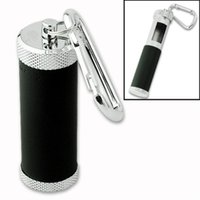 ash bins - Durable Portable Cigarette Ash Holder Mini Ashtray Portable Tobacco Ash Bin Black With Stainless Carabiner EG5535