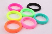 Wholesale The explosion of South Korean pop candy color fluorescent ring ring seamless hair rope new Korean hair bag mail