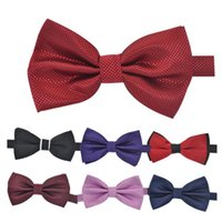 Wholesale Tie and black bow tie wedding wedding groom British double wine red tide type General Assembly