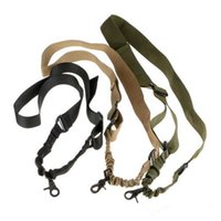Wholesale Tactical One Single Point Adjustable Bungee Rifle Gun Sling System Strap Hunting Gun Accessories Tools