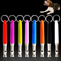 Wholesale New Pet Whistle Dog Training Obedience Dog Whistle UltraSonic Supersonic Sound Pitch Black Quiet Discipline