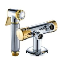 Wholesale Golden Chrome Wall Mounted Multifunction Mixer Valve Brass Bidet Sprayer Faucet