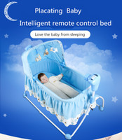 Wholesale High Quality Multifunctional Electric Baby Cradle Baby Crib Intelligent Portable Folding Cradle with Music and Mosquito Net