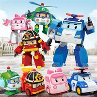 big roy - Big size Children cartoon police car Robocar poli toys robot transformer cars POPII Helly Amber Roy cartoon Anime model Kids Plastic toy