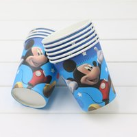 baby boy themes - mickey mouse cartoon theme Boys Baby Happy Birthday Decoration Event Party Supplies Kids Supplies Favors Paper Cups Glass