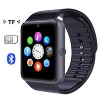 Montre de fitness de santé à puce Prix-GT08 Bluetooth Smart Watch avec fente pour carte SIM et TF Health Watchs pour Android Samsung et IOS Apple iphone Smartphone Bracelet Smartwatch