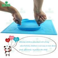 baby s plate - lovely panda mat silicone baby plate placemat for kids with colors for chose DHL free S