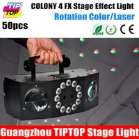 Wholesale TIPTOP COLONY FX Disco Party Led Laser Light Slim LED white strobe RGBA Rotating Moonflower Effect IEC AC IN OUT LED display