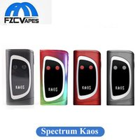 Original Sigelei Kaos Spectrum Box Mod 230W 0.96TFT Big Oled Affichage Vape Mod 6 Changeable LED Color Bar 230Watt vs Lost Vape Triade
