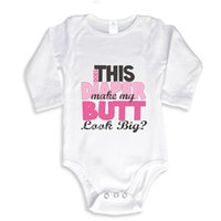 big onesie - Does this Diaper make my Butt look big Funny baby onesie baby white outfit boy girl gift clothes newborn baby