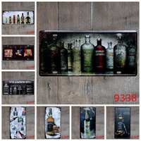 Wholesale Vintage Metal Posters Wine Beer Bottle Cups Tin Signs Trippy Posters Metal Crafts Painting Wall Stickers for Bar Club Gallery Mural Decor