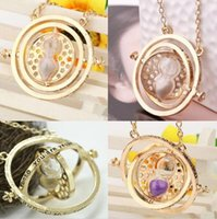 Wholesale European and American popular harry potter necklace necklace time converter harry potter hermione granger rotating time turner necklace