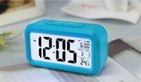 Wholesale Digital Snooze Electronic Alarm Clock Despertador Watches with LED Backlight Light Control Time Calendar