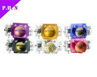 Wholesale 80 mm Universal AluminumThrottle Body CNC Billet Intake Manifold High mm color purple Blue black Red Silver Gold