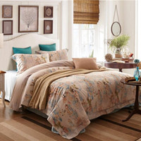 Wholesale 4 Piece Horse Bedding Sets High Quality Softest Bed Sheets Soft Tencel Cotton Printed Reversible Painting Sheets Quilt Pillowcase