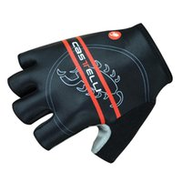 Wholesale cycling gloves New Castelli Style Cycling Bike Bicycle Team Antiskid GEL Sports Half Finger Silicone Gloves Size S XL