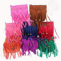Wholesale 8 Colors Kids Tassel Shoulder Bags Vintage Tassel Bag Girl Messenger Bag Fashion Tassel Bag Hot Faux Fringe Handbag Tote Bags CCA5436