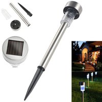 Cheap Solar LED Path Light Outdoor Garden Lawn Landscape Stainless Steel  Spot Lamp White Light Color