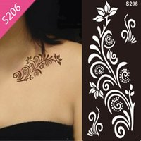 Wholesale New styles cm piece Tattoo Airbrush Stencils for Body Painting Henna Stencil Template Mixed Designs Tattoo Accessories