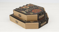 Wholesale Quality corrugated kraft paper package box Brown theme pizza kraft paper cases Classic polygon cube box