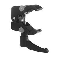 Wholesale Adjustable Magic Friction Arm Aluminium Alloy Camera Super Clamp Mount Crab Pliers Clip Bite Small size cm Black