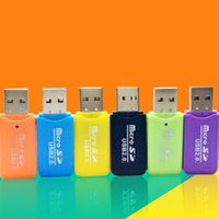 Wholesale High Speed USB Micro SD card T Flash TF M2 Memory Card Reader adapter mobile phone SD card reader small multi purpose
