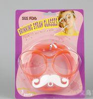beard art - PC Creative beard glasses straw Straws Funny Crazy Art Straws birthday wedding decorative party event supplies Drinking Straws