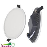 Wholesale New W W W W Inch Dimmable Recessed Integrated Round LED Ceiling Panel Light Downlights AC V