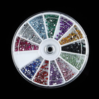 Wholesale mm Nail Art decorations Glitter Tips Rhinestones Round Gems for Nail Art Nail Beauty