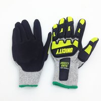 best mechanics gloves - Cut Resistant Gloves High Performance Level Protection Impact Mechanic Glove Heavy Duty Glove Best Work Gloves CE Certificated