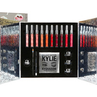 1 big makeup - hot Makeup kylie Holiday Edition Big Box Set Lipstick Eyeshadow Eyeliner Set Kylie jenner Christmas gift MR240